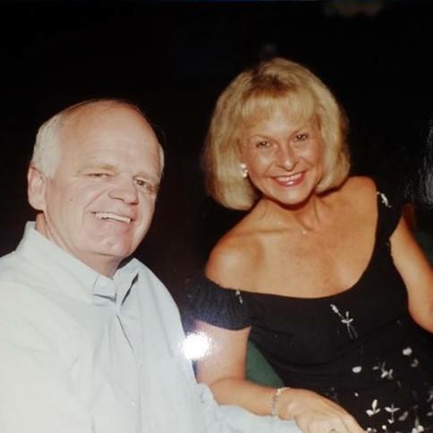 with wife Joyce