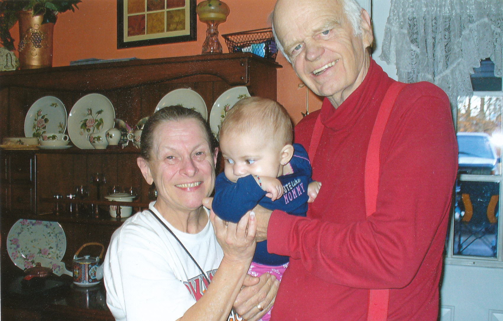 With Joyce and her grandson