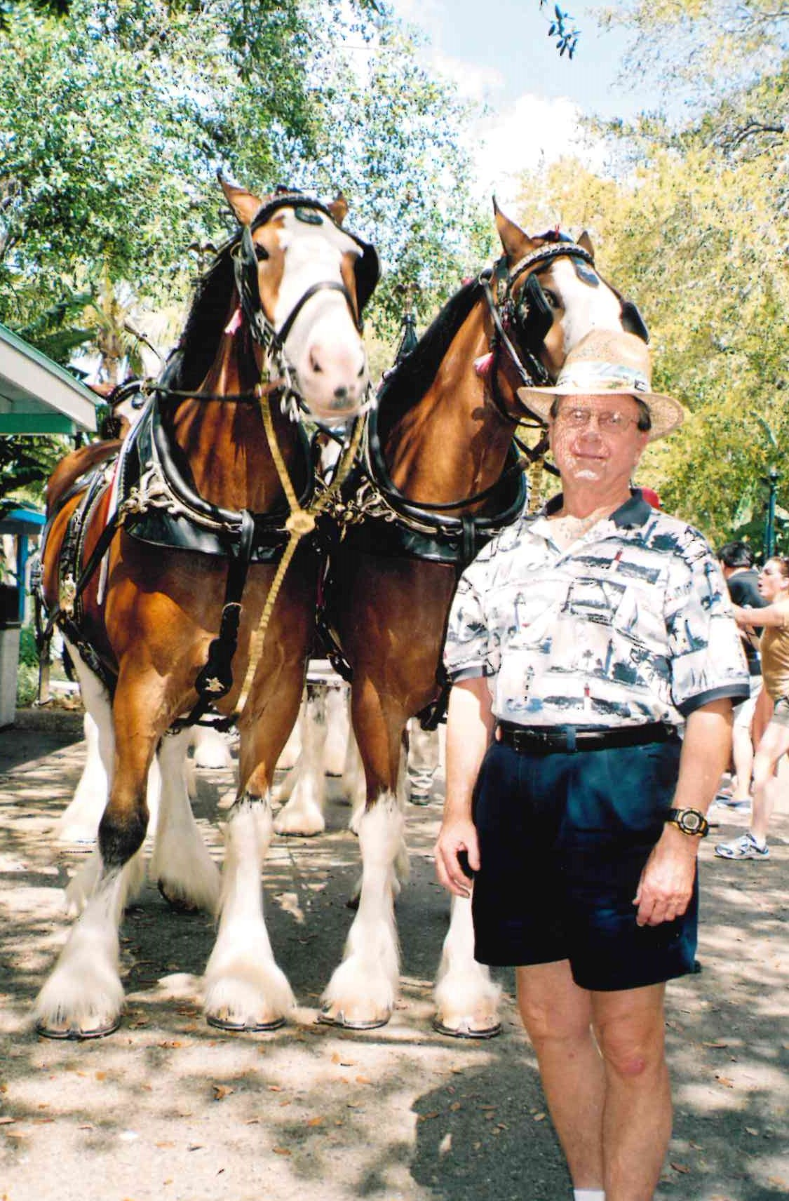 He loved the horses