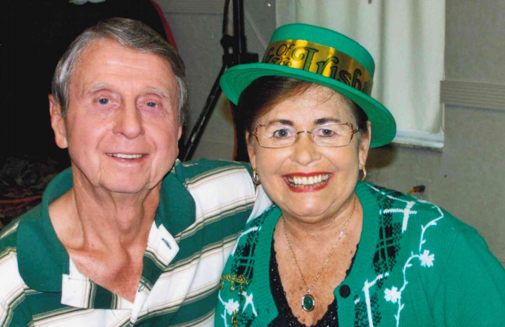 Happy St. Patrick's Day from George and Elaine!