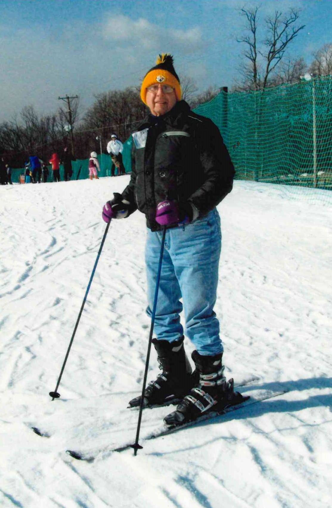 Skiing with George