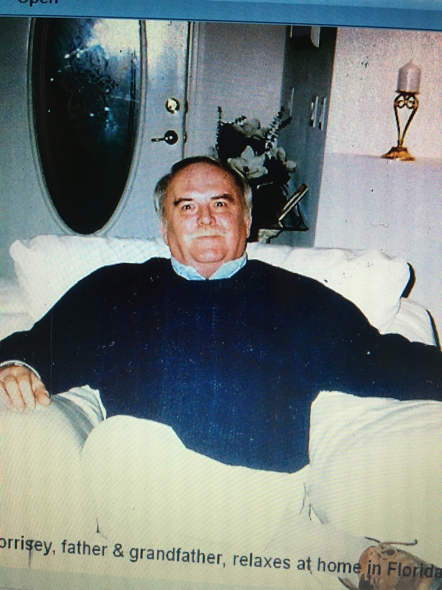 John relaxing at home<br /> Love you