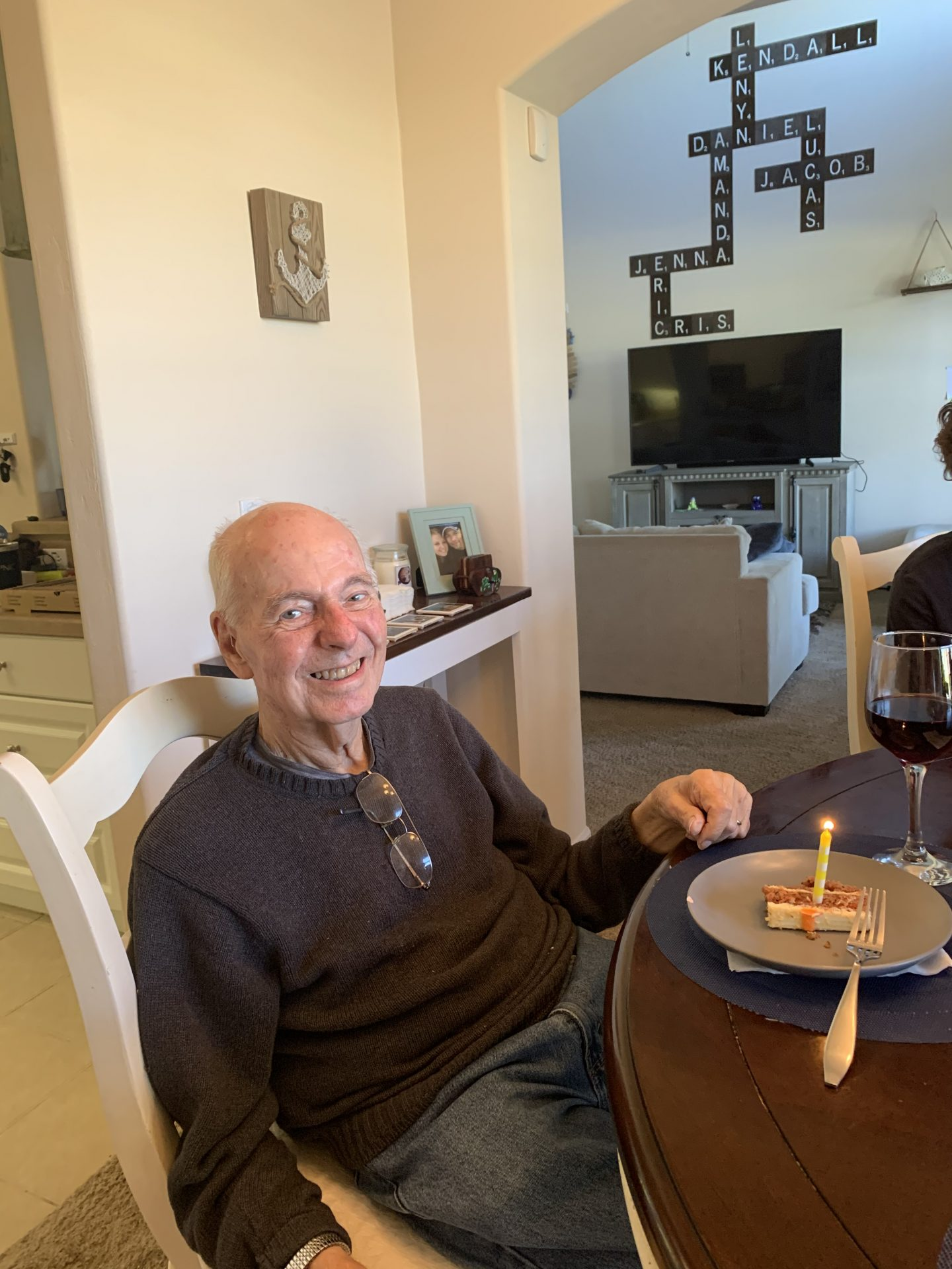 Celebrating your last earthly birthday! Here's to 89!