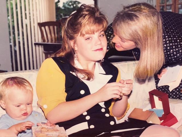 Kathy, Lora, and Mason