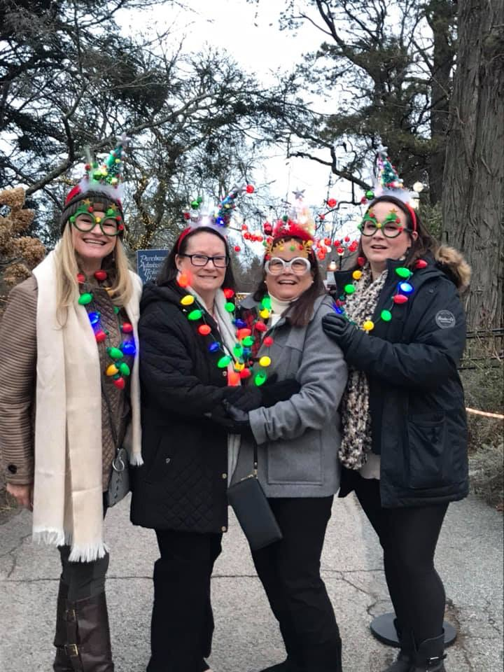 A good time was had by all - we laughed so hard and had such a great time - The Christmas Stroll at Heritage Gardens , Cape Cod   MA