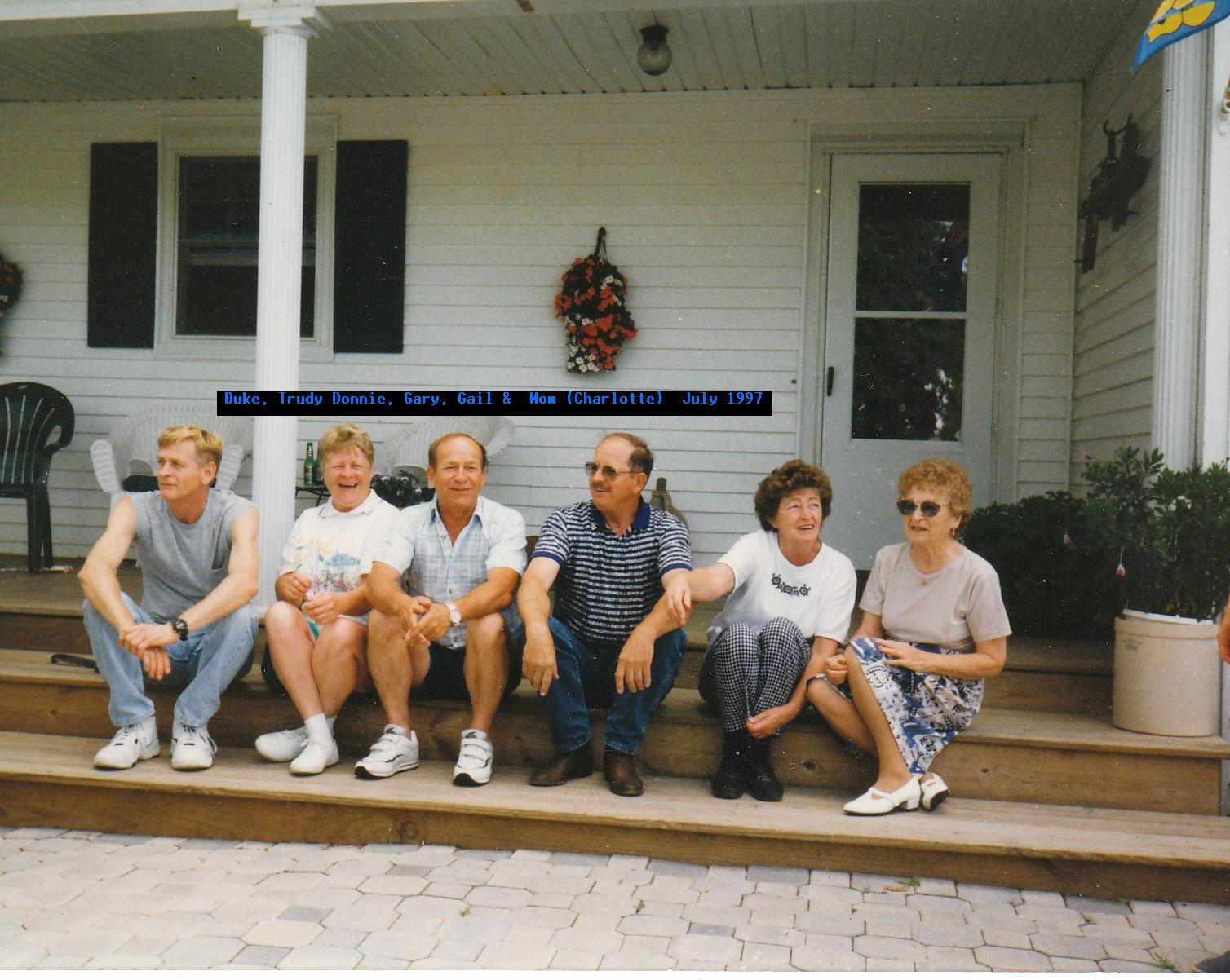 Donnie with his Mother, Sisters & Brothers