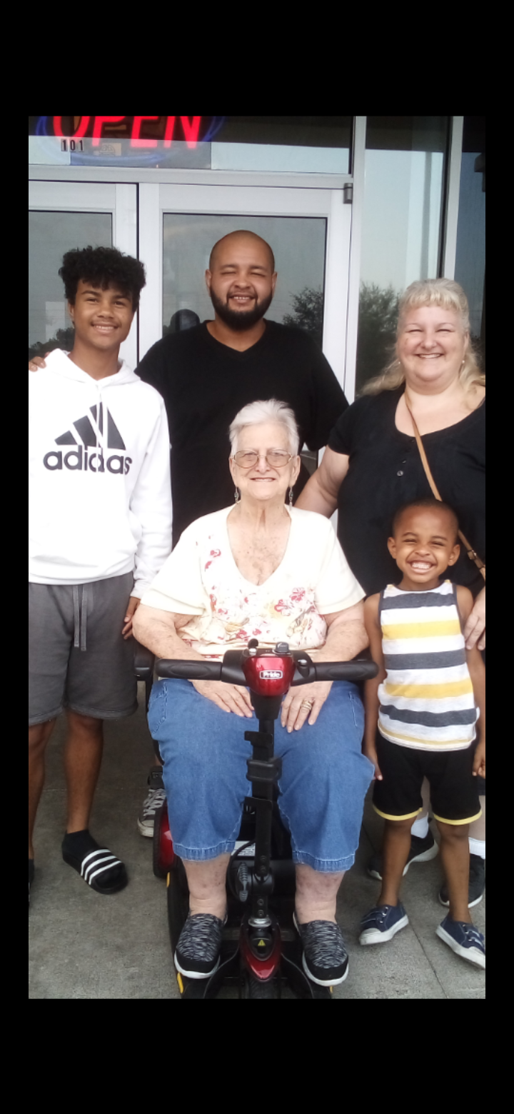 Four generation picture, Wilma, Joanna, Justin, Jeremiah and Isaiah