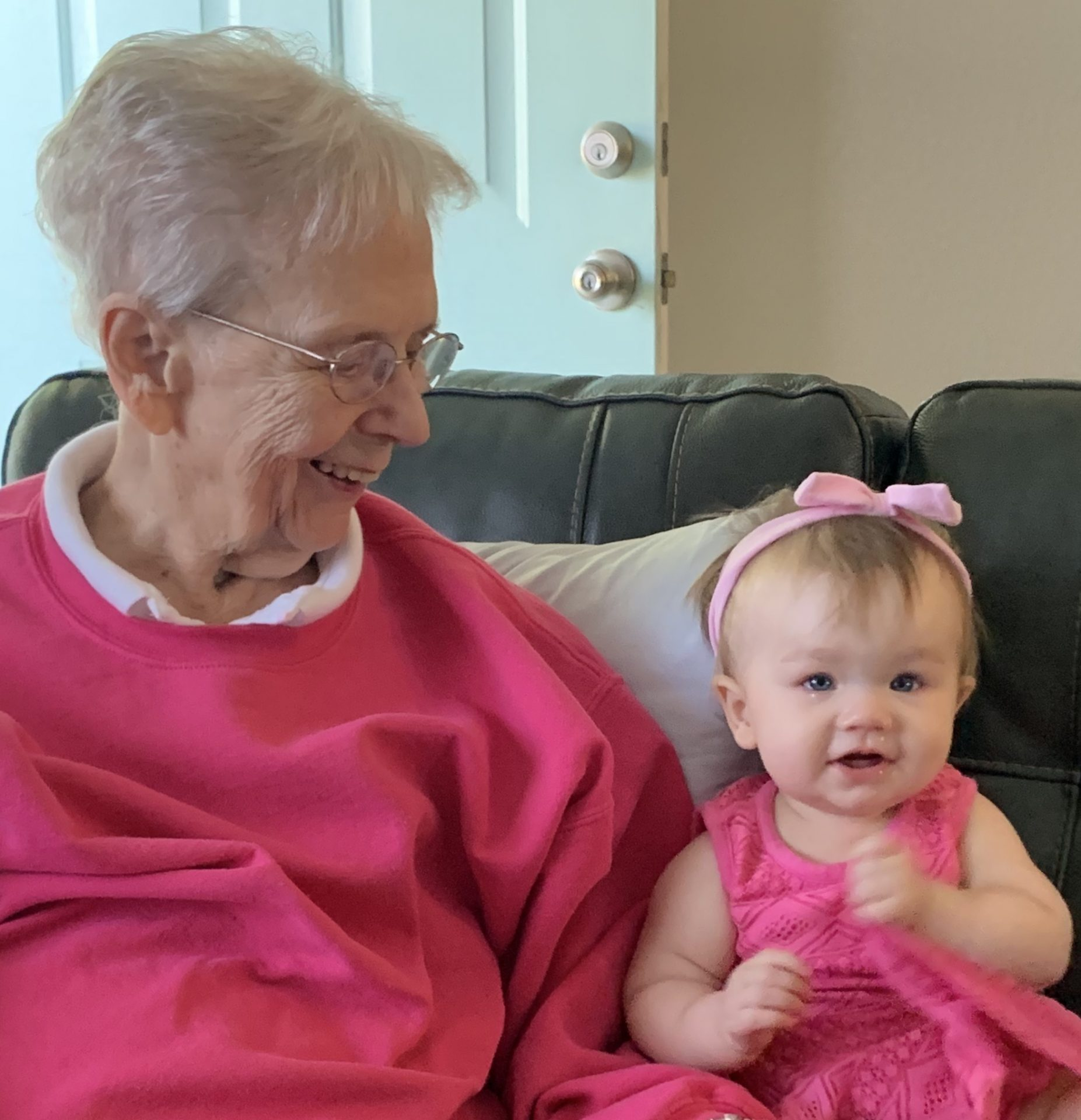 Joyce with great granddaughter Alana.