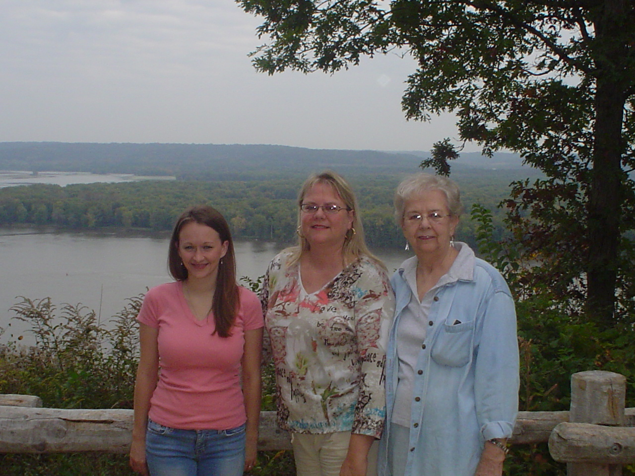 Grandma, Mom and Sarah in Bellevue IA. We had so much fun that day.