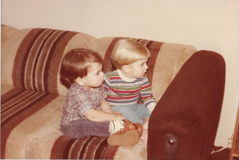 Brent and Brian watching Sesame Street together:)
