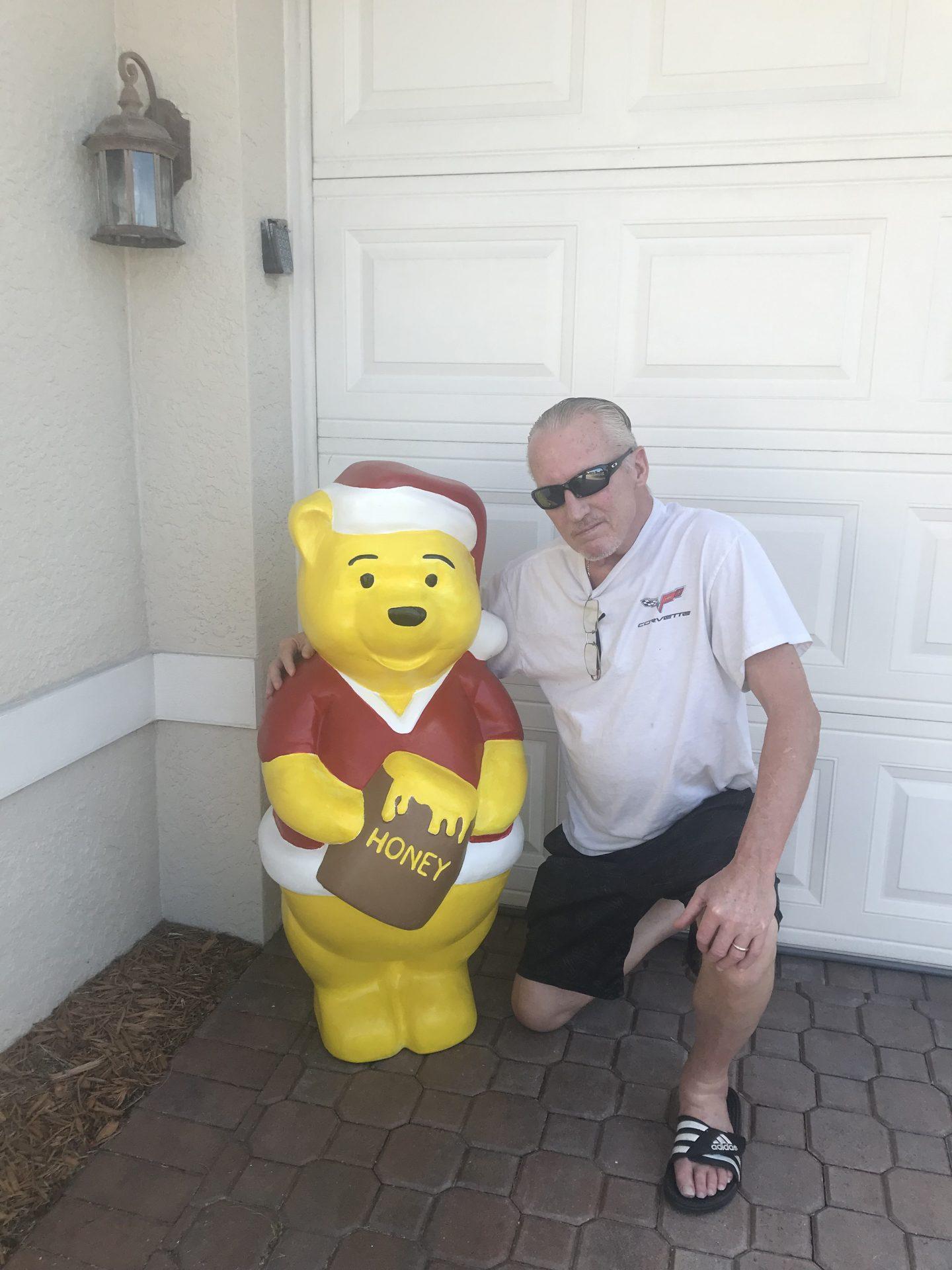 Joe totally redid Winnie the Pooh for me.  He did a beautiful job.
