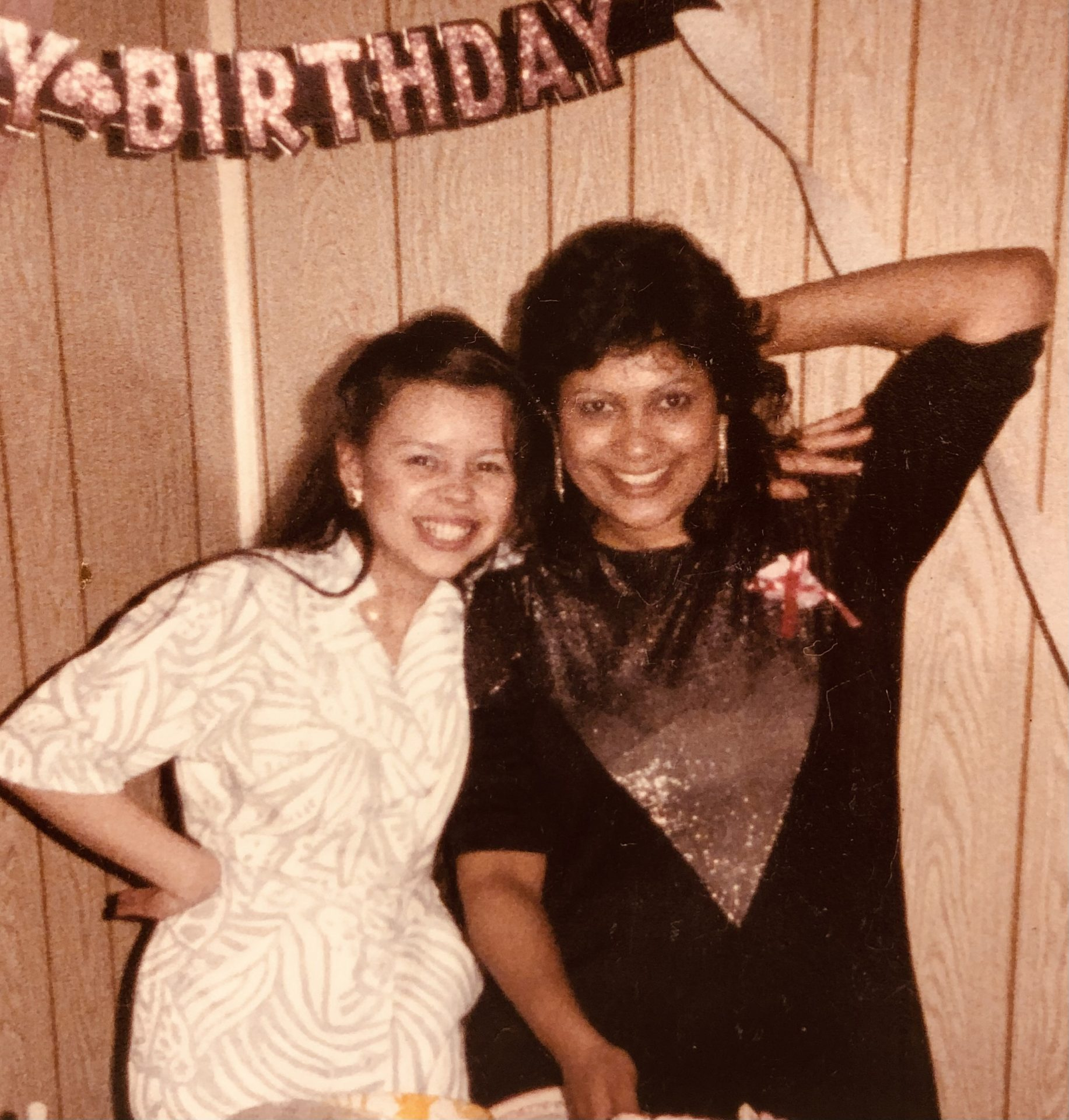Birthday party back in 1987