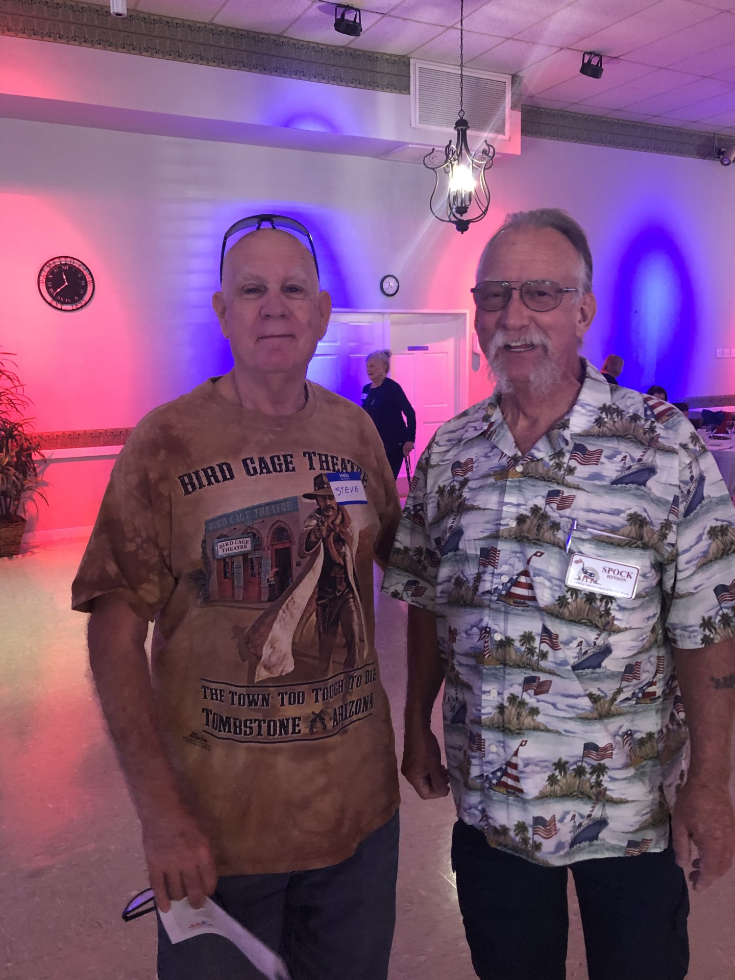 Steve was an awesome friend and a man's man. Steve came to the Republican Liberty Caucus luncheon in Daytona in July and we had a good time. I feel really fortunate to have gotten to spend some time with him.