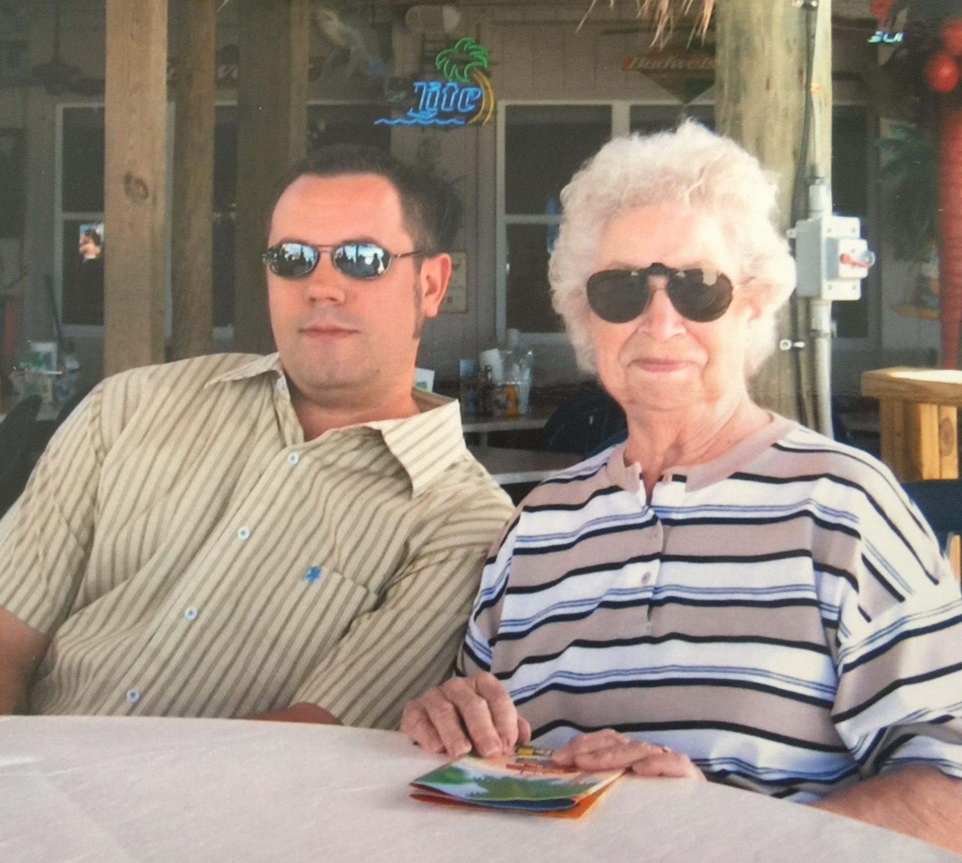 Tim & Grandma Kelley