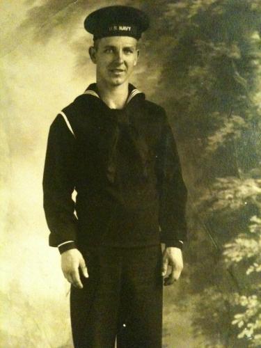 Boyd in his Navy uniform 1944