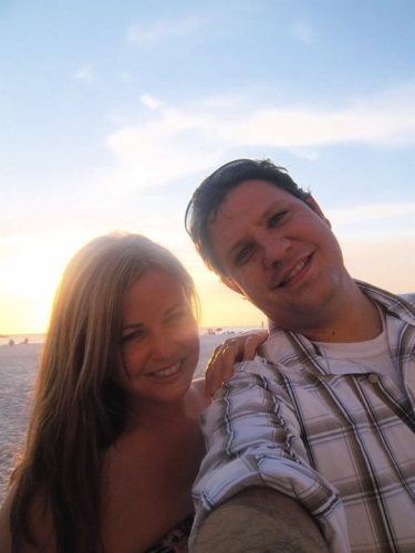 Brian and Kahlin in Clearwater Beach, FL