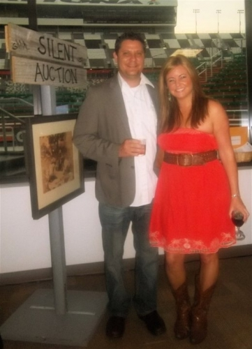 Brian and Kahlin at the Cancer Society Cattle Baron's Ball