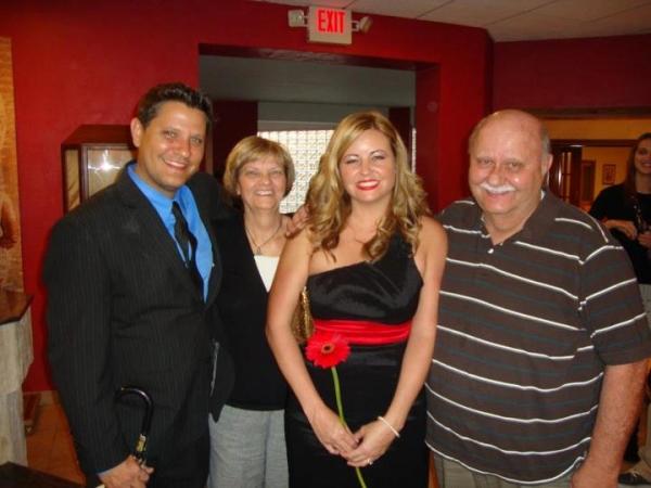 Brian, Kahlin, Bob and Linda at Our Lady of Lourdes Church, Daytona Beach