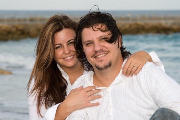 Brian and Kahlin Engagement Photo Jupiter Beach, FL 2008