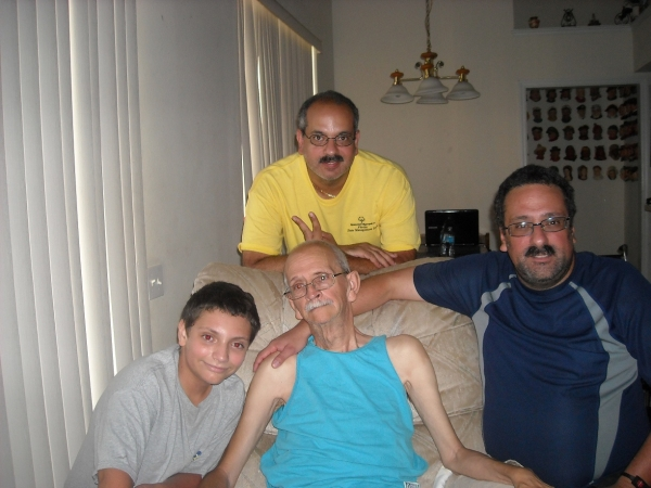 three generations of Pagan men