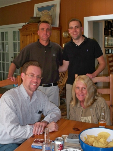 Terry and her sons Michael, Bryan, and Casey