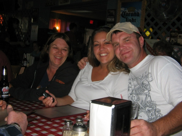 Mom, Carrie & Chris at Kay's Pizza in NY