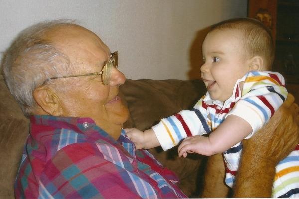 Grandpa's boy Dominic
