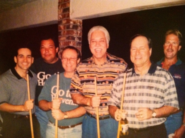 Bill with the guys at Casey's house