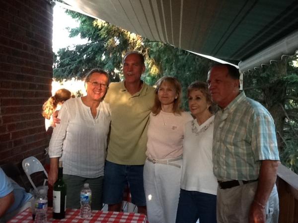Jeannie, Carl, Marian, Ellie, George