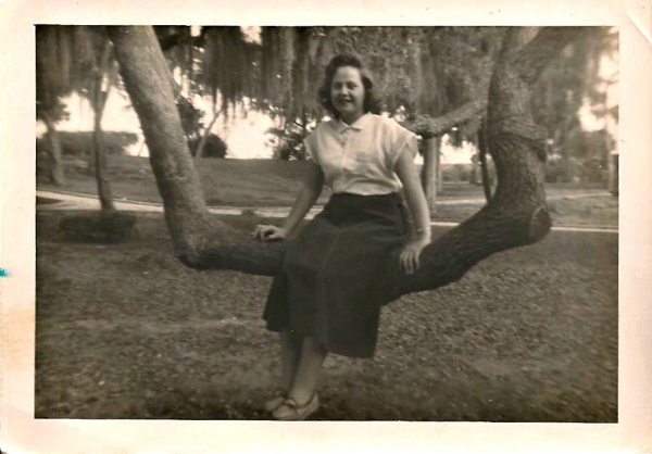 Lona at the Old Fort Park, 1950