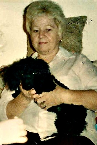 1987-Lona and Pepper, one of her beloved poodles