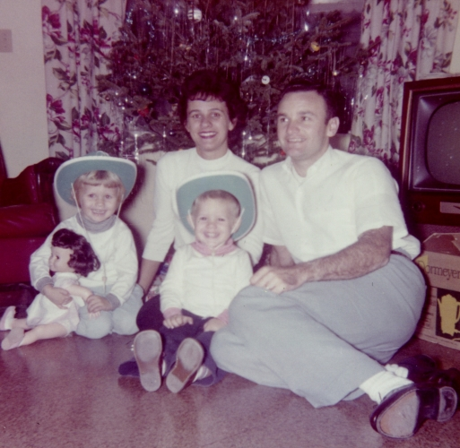 Troy, me, mom and Dad