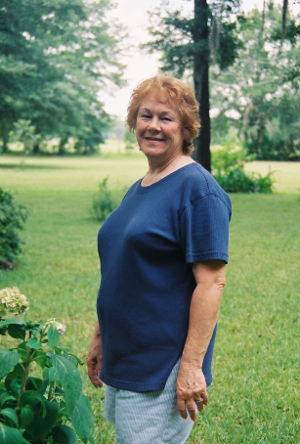 Mom near garden