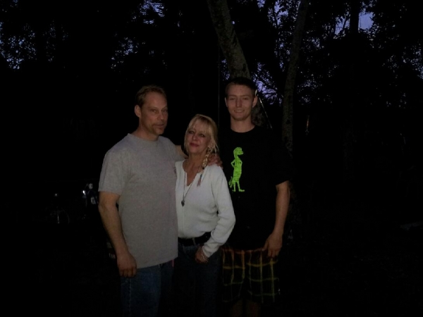 Beth and her brother Jim with Carson