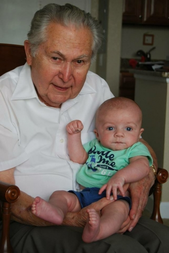 George and Great Grandson Cooper Gentry 2014