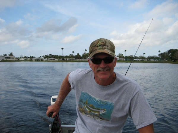 Dad and Me fishing at Heron Cay