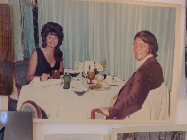 Dad and mom in their younger days