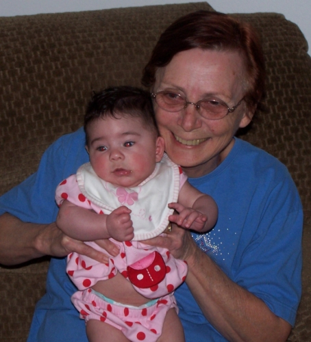 Carol with Great Grand-Baby
